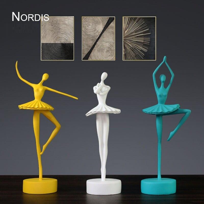 Modern Abstract Ballet Dancer Figurine Handmade Resin Ballerina Statue Decor Home Art Craft Ornament Present Accessories R4124 Statues Sculptures Aliexpress
