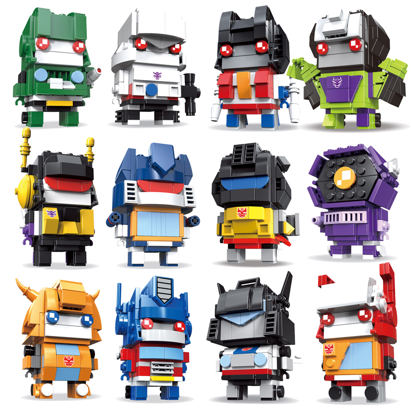 Brickheadz Dragon Ball Z SuperHero IronMan Marvel Super Heroes Batman Action Figures Building Block Bricks Heads Toys