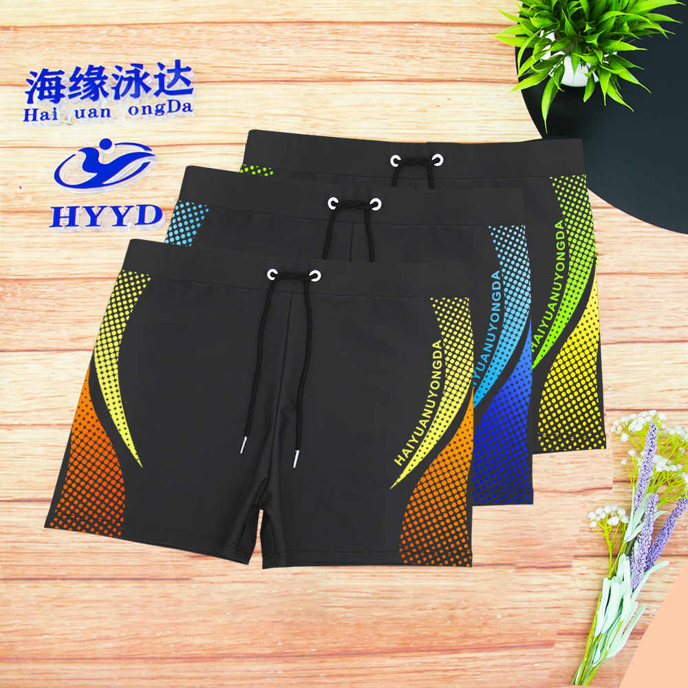 New Style Swimming Trunks Men Industry Angle Swimming Trunks Industry Waterproof Swimming Trunks Hot Selling Men's Bathing Suit