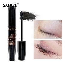 Saniye rímel alongamento preto lash extensão cílios olho escova beleza maquiagem longo-vestindo 4d rímel preto m1040