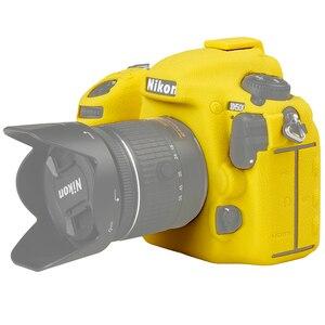 Image 3 - For Nikon Silicone Camera Case Litchi Texture Camera  Protector Cover for Nikon D4 D4S D5 D500 D800 D810 D810a D750 D850 D7500