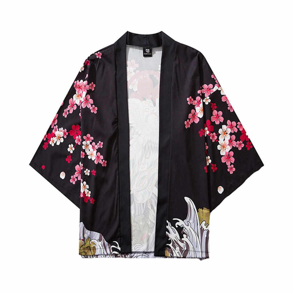 男性レディース着物日本の服着物カーディガンコスプレメンズエスニック着物ドレス浴衣女性の夏のブラウス着物オム