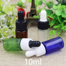 Free Shipping 10ml Plastic Dropper Bottle Refillable Small Essential Oil Container Empty Mixing Cosmetic Perfume Package Bottles 5ml10ml15ml20ml30ml50ml100ml empty cosmetic dropper bottle blue essential oil containers glass pipettes essence package