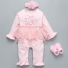 Socks Baby-Girls Bodysuit Party Baptism Infant 6-9 Headband 3-6 12-Months Gown Princess-Set