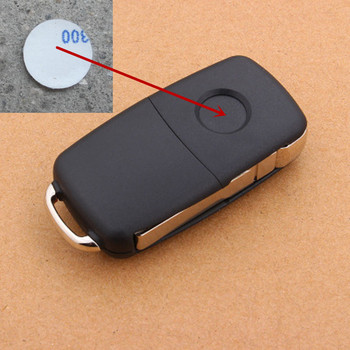 1pc 14mm Car Key Sticker for Volkswagen VW Golf 4 5 6 Polo Passat B5 B6 B7 CC Jetta Mk6 Tiguan Gol Cross Fox Plus Eos Scirocco image
