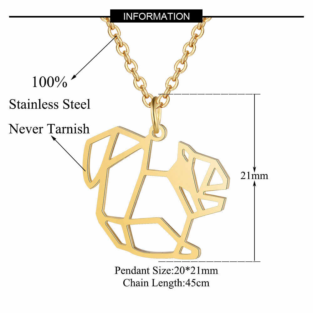 Vnistar unikalne naszyjniki niesamowita jakość 100% ze stali nierdzewnej zwierząt wiewiórka naszyjnik dla kobiet moda biżuteria specjalny prezent