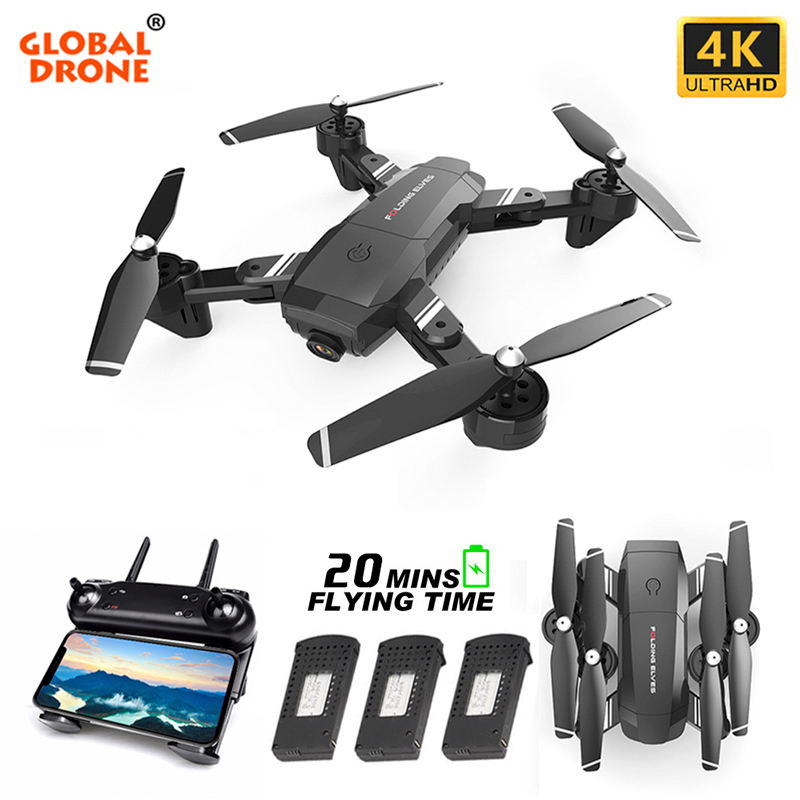 Globale Drone 4K Drone X PRO Selfie Eders mit Dual Kamera FPV Quadcopter Optischen Fluss Faltbare Quadrocopter VS M70 e520 SG901
