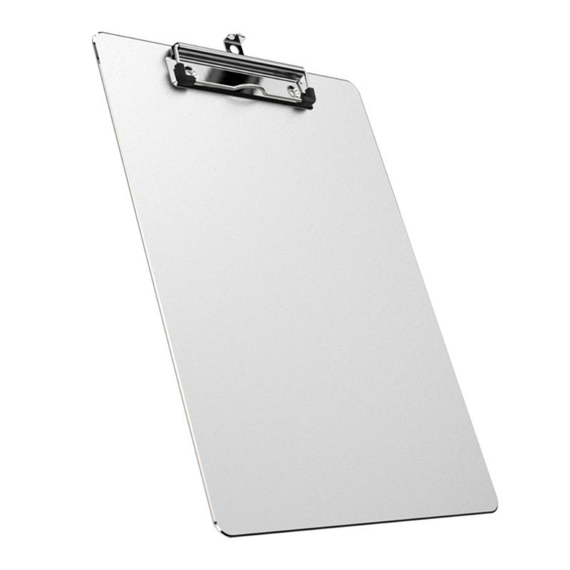 A4 Aluminum Alloy Writing Clip Board Antislip File Hardboard Paper Holder Office