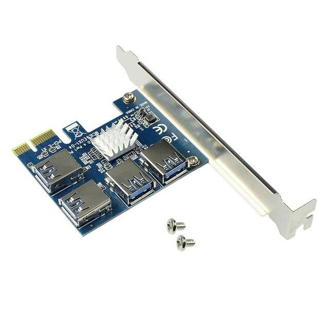 1/3/5/10 pcs PCI-E to USB Adapter 4-port PCI-E X1 to USB 3.0 Riser Card Extender Board Mining Accessory Dropshipping 4