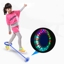 Flash Jumping foot force Ball Kids Outdoor Fun Sports Toy LED Children Jumping ring jumping circle ball Child-parent Games(China)