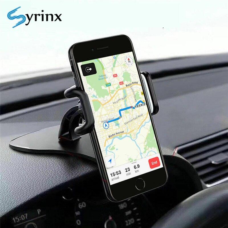 Syrinx For Iphone Holder Car 2019 New HUD Design Clip Car Smartphone Holder Stand 360 Rotation Universal Dashboard Phone Holder