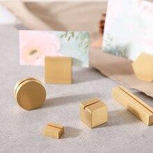 1 шт. латунный держатель для карт, держатель для карт, зажим для фотографий, аксессуар для стола, латунный держатель для карт