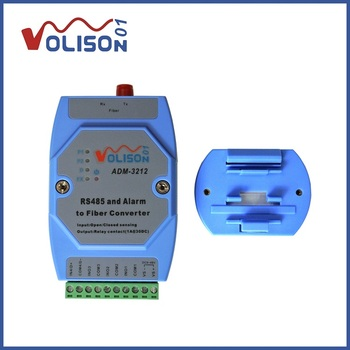 ADM-3212 Alarm signal to optical fiber 2-way switch optical transceiver with 1-way RS485 infrared dedicated