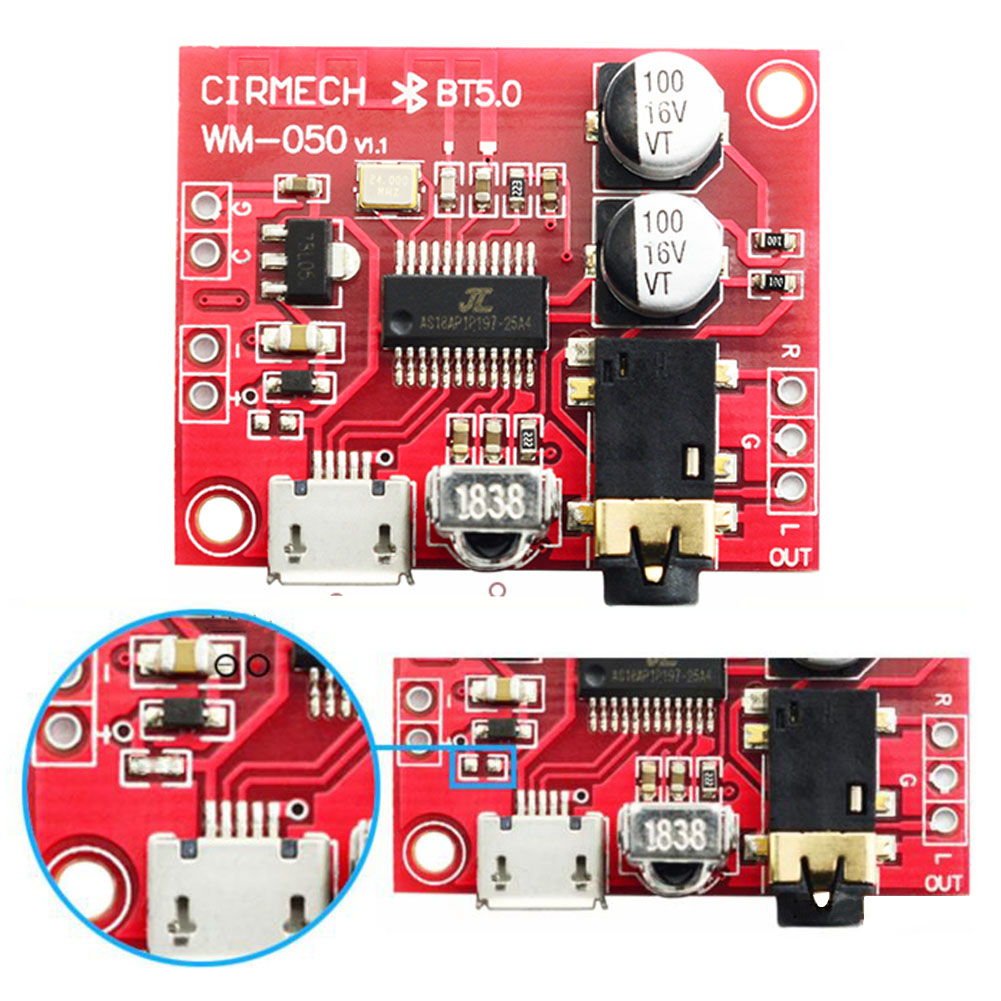 Lossless Bluetooth 5.0 Receiver Module Car Speaker Audio Stereo Remote Control Accessories Circuit Mini Amplifier Decoder Board
