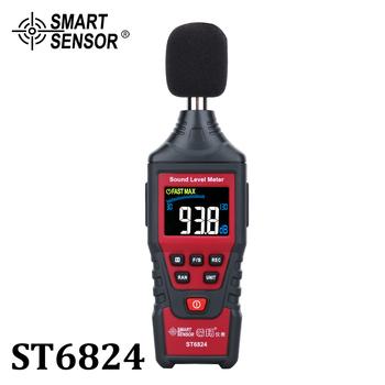 Cyfrowy poziom dźwięku miernik hałasu detektor decybeli Tester Audio kolorowy wyświetlacz lcd Metro diagnostyczny dźwięk hałas narzędzia pomiarowe tanie i dobre opinie SMART SENSOR 30 ~ 130dB ST6824 30~130 dBA 30-130dBC ±1 5dB 30HZ~8KHZ 4 digits 0 1dB According to IEC651 TYPE 2 ANSIS1 4 TYPE 2