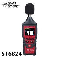 Cyfrowy poziom dźwięku miernik hałasu detektor decybeli Tester Audio kolorowy wyświetlacz lcd Metro diagnostyczny dźwięk hałas narzędzia pomiarowe w Mierniki poziomu dźwięku od Narzędzia na