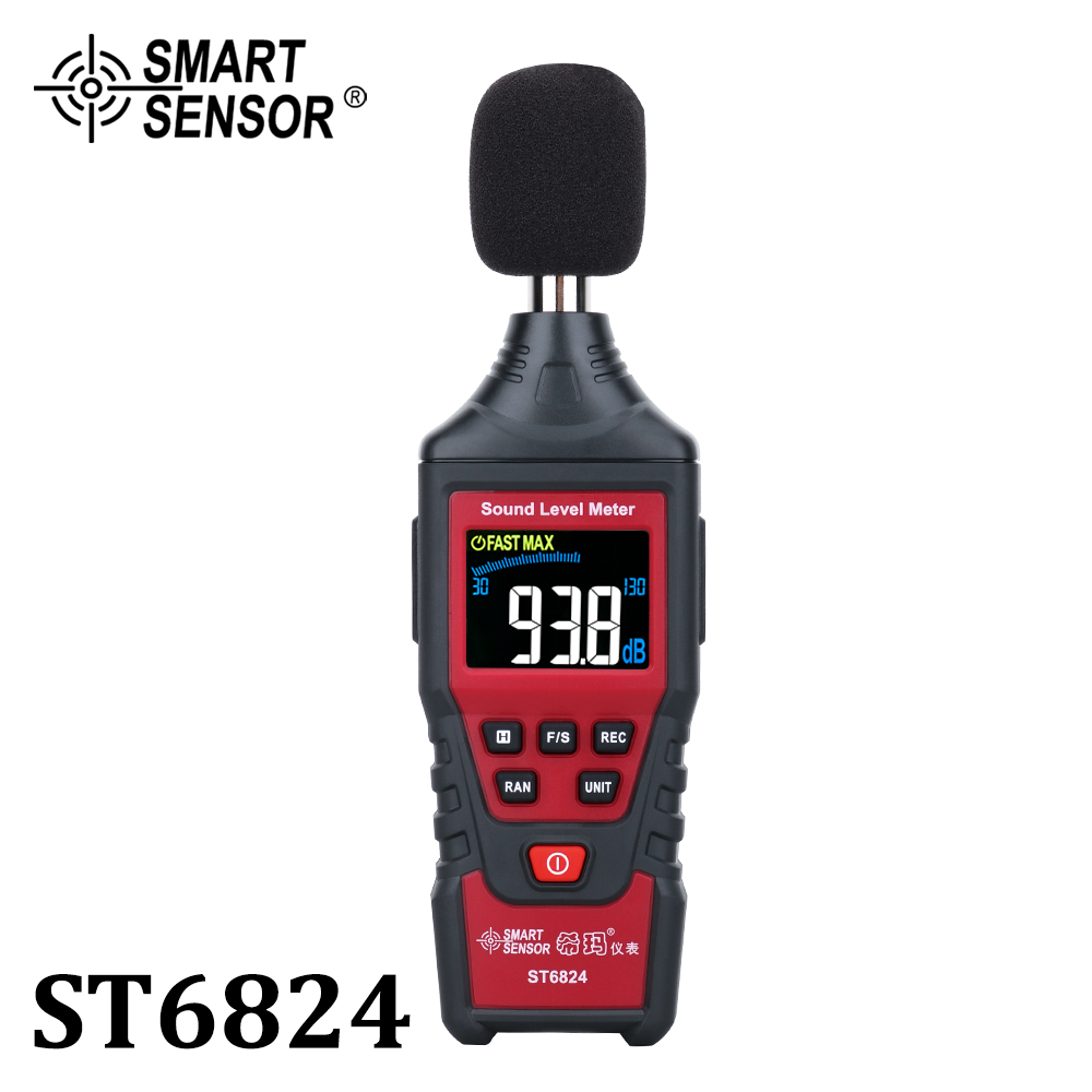 Digital Sound Level Noise Meter Decibel Detector Audio Tester Color LCD Display Metro Diagnostic Sound Noise Measurement Tools
