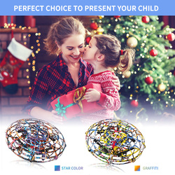 New Flying Induction Aircraft UFO Parent-child Interactive Children's Toys Suspended Rotating Fly Induction Aircraft Xmas Gift