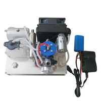 TOYAN Level 15 Methanol Engine To Gasoline Engine Model DIY Micro 12V Generator Set With Water Cooled Radiator Device