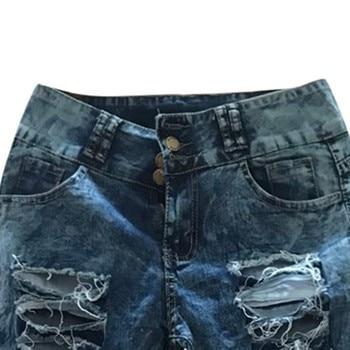 woman mom high waist jeans mujer spodnie damskie jean vaqueros mujer denim streetwear plus size calca jeans feminina pant 3XL Z4 8