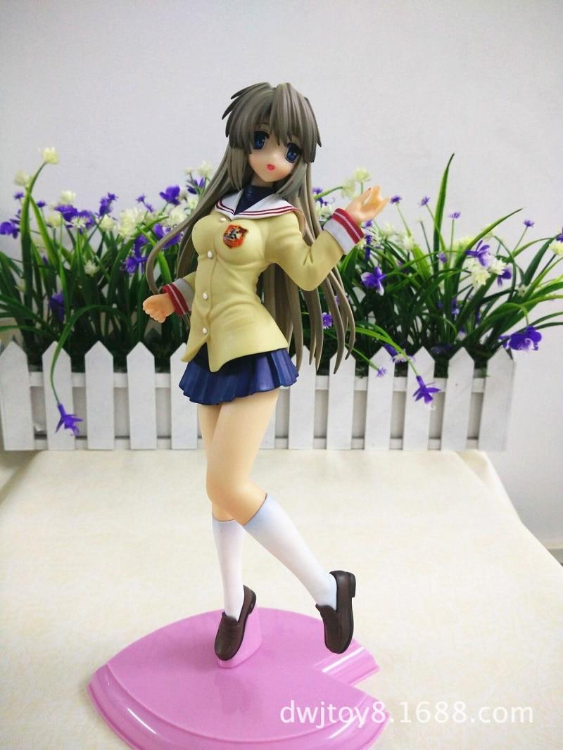 Image 5 - Clannad Sakagami Tomoyo figurine merveilleuse vie japon Anime Sexy fille école uniforme Ver PVC 25cm modèle Collection cadeau jouetanime sexyaction figurefigure pvc -