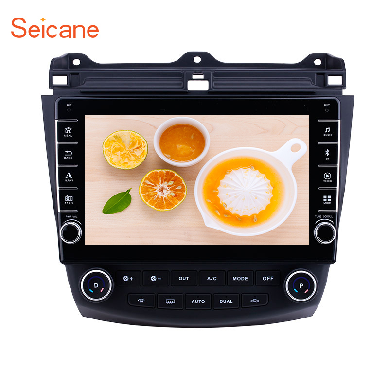 Seicane 10.1 inch <font><b>Android</b></font> 9.1 2din car <font><b>Radio</b></font> GPS Navigation For 2003 <font><b>2004</b></font> 2005 2006 2007 <font><b>Honda</b></font> <font><b>Accord</b></font> 7 car multimedia player image