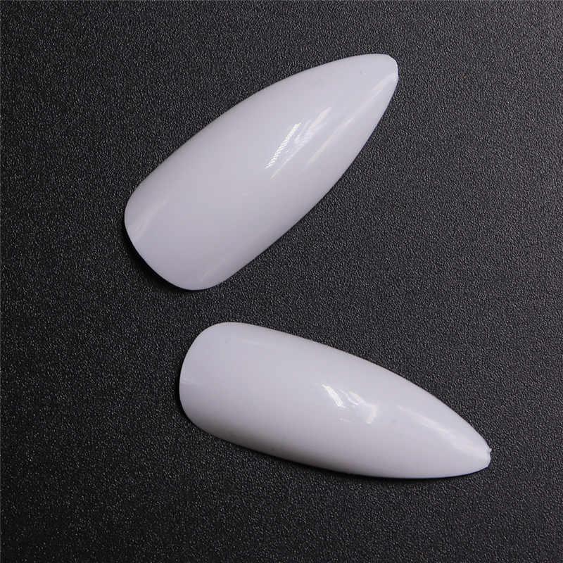Lamemoria 500 шт. накладные ногти на гроб накладки на ногти пресс на ногти натуральные прозрачные длинные балерины DIY накладные ногти полное покрытие сауны Falsas