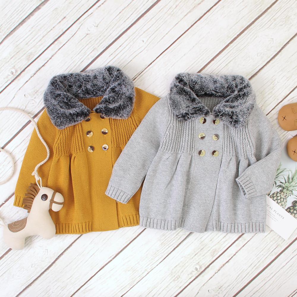 Newborn Toddler Baby Girls Cardigan Jacket Coat Long Sleeve Outerwear Kids Tops