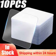 Remendo esparadrapo forte de dupla face transparente nano da fita adesiva de 10 pces impermeável nenhum traço fita de alta temperatura da resistência