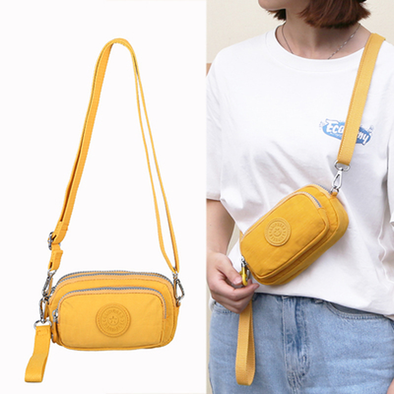 Waterproof Nylon Clutch Bags With One Shoulder Strap Women's Messenger Bag