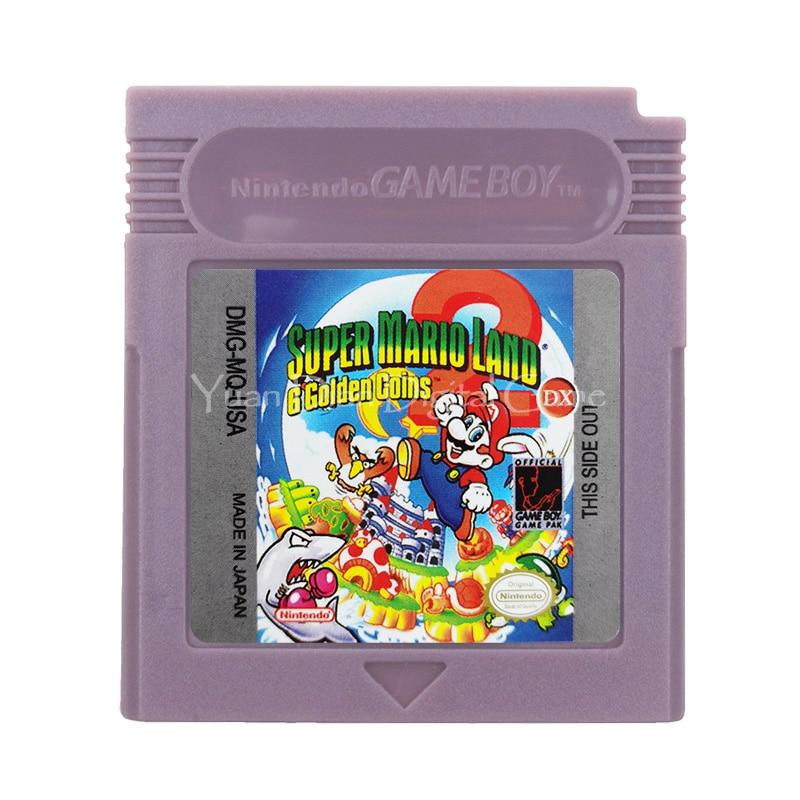 For Nintendo GBC Video Game Cartridge Console Card Super Mari Land 2 English Language Version 1