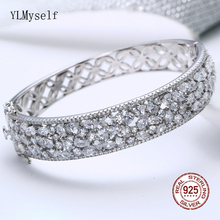 6.2 cm diameter Real 925 Bangle Bridal Wedding Jewelry Jewellery Luxury Solid Sterling Silver Bracelet & bangle
