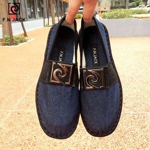 Image 5 - F. n. jack Vải Nam Thông Minh Thời Trang Giày ESPADRILLE Cao Su Vip Liên Kết Scarpe Uomo Nam Cao Su Giày Sapato Masculino