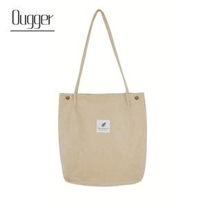 Image 1 - Ougger kadın omuz çantaları çanta yüksek kaliteli gri kadife çile büyük kapasiteli moda İngiltere tarzı alışveriş kova çantası