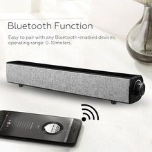 20W Bluetooth Soundbar Portable Stereo Speaker Subwoofer 3D Surround for Home Theater Music(China)
