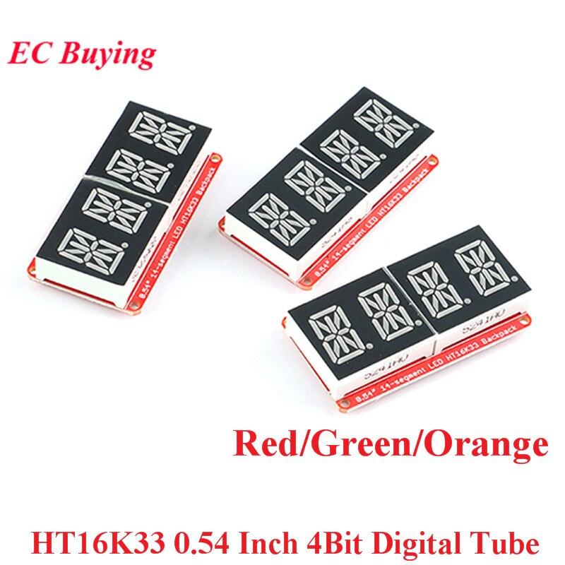 HT16K33 0.54 pouce 4 Bit mètre Tube numérique Module daffichage à LED IIC I2C compteur de contrôle 3.3V 5V pour Arduino rouge/vert/Orange