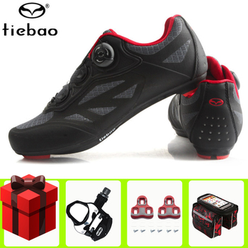 цена на Tiebao Road Cycling Shoes Men Sneakers Women Auto-lock Bicycle Sport Shoes Breathable Bike Shoes Athletic zapatillas de ciclismo