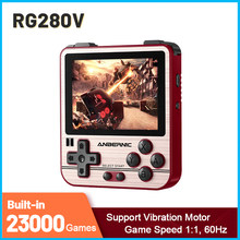 Consola de juegos Retro RG280V, sistema de código abierto IPS de 2,8 pulgadas para PS1 GBA GB, Mando de juegos integrado, 23000 juegos