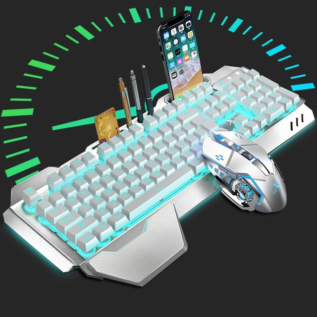 K680 Gaming keyboard and Mouse Wireless keyboard And Mouse Set LED Keyboard And Mouse Kit Combos 2
