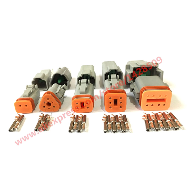 25Set/Lot 5 Models Deutsch DT06/DT04 2/3/4/6/8 Pin Engine/Gearbox Waterproof Electrical Connector For Car,Bus,Motor,-in Connectors from Lights & Lighting    1