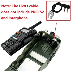 Image 5 - Harris kukla kasa ve/PRC 152/PRC 148 walkie talkie 6 pin fiş dönüş Kenwood adaptörü U 283 /U walkie talkie DIY bağlayıcı