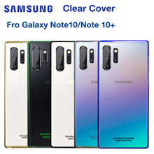 SAMSUNG Original Stealth Plastic Phone Cover Case for Samsung GALAXY Note 10 Note10 NoteX Plus Transparent Hard Shell