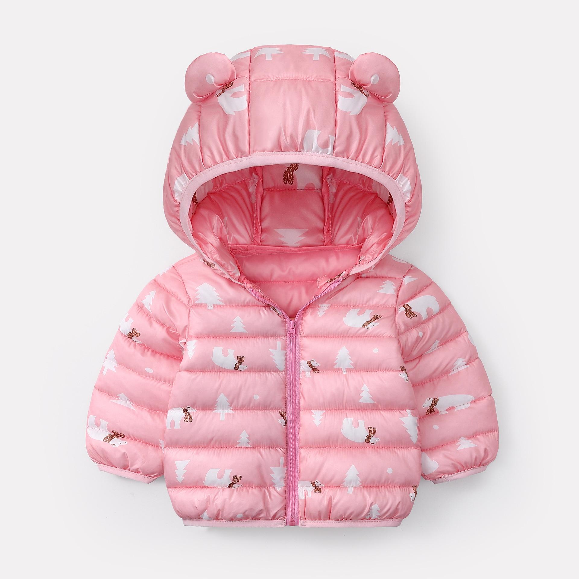 Toddler Baby Boys Girls Jacket Coat Kids Warm Winter Coats Outerwear 2-6T