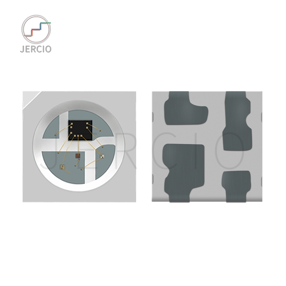 Jercio 50-1000pcs XT1511 XT1505 XT1511-2427(Similar with ws2812b.SK6812-RGB) Size different Programmable White Face SMD LED