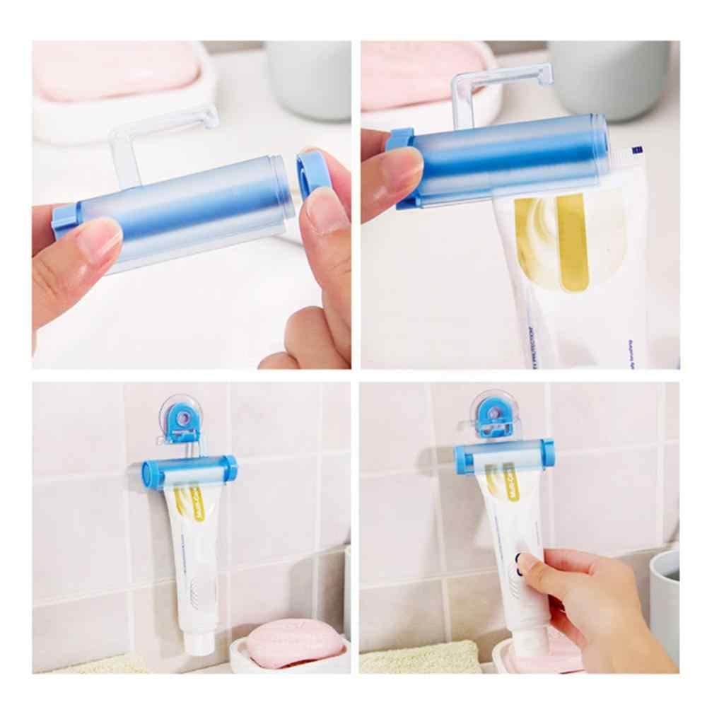 Zwijania i wyciskania tubki dozownik pasty do zębów uchwyt na Sucker krem dentystyczny łazienka ręczny pistolet strzykawkowy dozownik