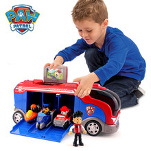 Paw Patrol Toys Rescue Bus Dog Base Command Center Patrulla Canina Anime Vehicle Car Plastic Toy Action Figures Model Kids Toys