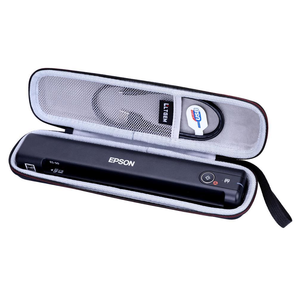LTGEM EVA Hard Case For Epson Workforce ES-50 Portable Sheet-fed Document Scanner For PC And MAC