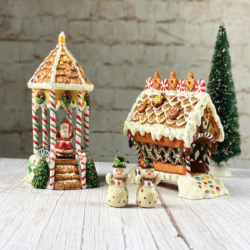 Christmas Series Craft Work Xmas Gift Gingerbread House Easter's Day Present Living Room Bedroom Home Decorations