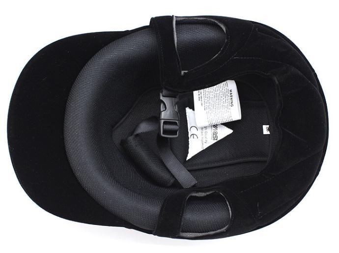 Equestrian Helmet Unisex Classic Velvet Horse Riding Helmet Horse Equipment Cycling Helmet Protection Cap 54-62cm Adjustable 6