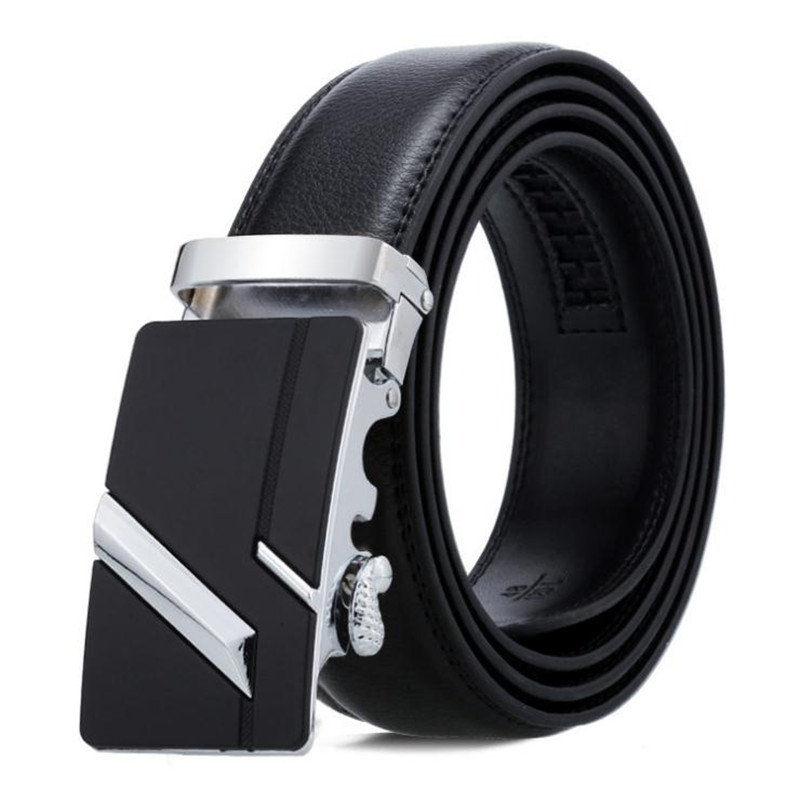 LannyQveen Men's Automatic Buckle Belts PU Leather Belt Fashion Ratchet Belt For Men Wholesale Free Shipping Stock More Styles